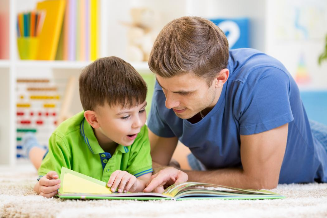 Father reading with his child