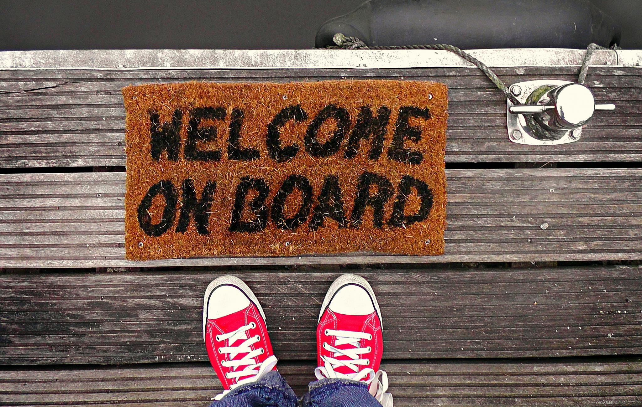 Image of a welcome on board mat