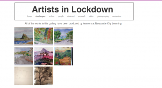 Screenshot of online art exhibition