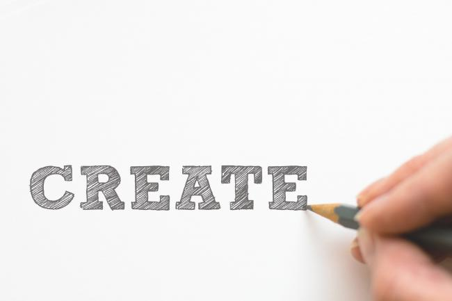 the word Create on a white background