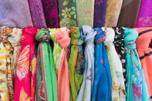Image of colourful scarves